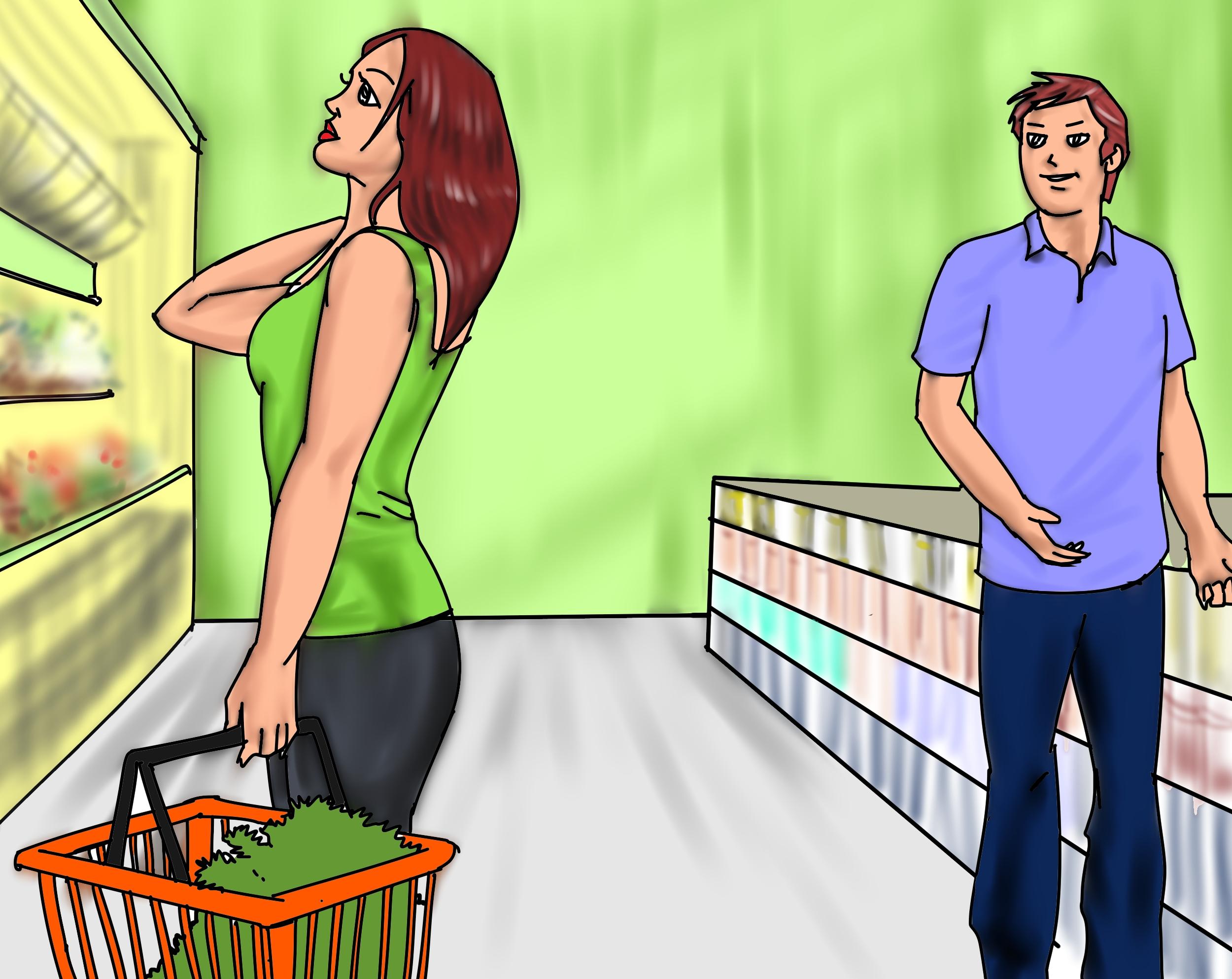 Guy noticing girl