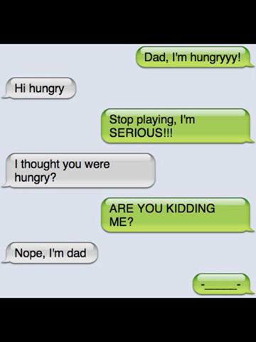 funny images, funny text, dad text